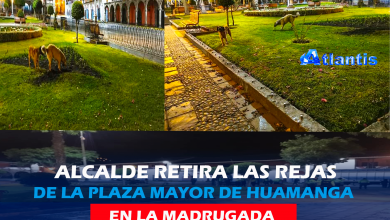 Photo of RETIRAN REJAS DE LA PLAZA MAYOR DE HUAMANGA!